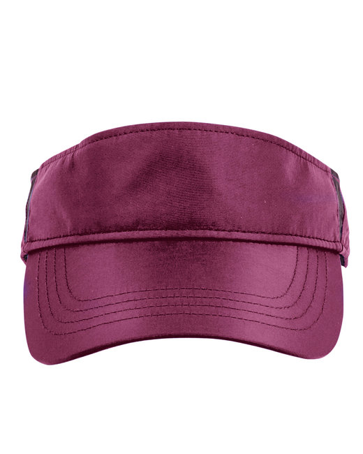 Ash City - Core 365 Adult Drive Performance Visor - Burgundy/ Carbon