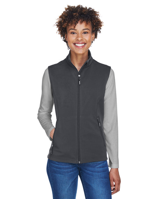 Core 365 Ladies' Cruise Two-Layer Fleece Bonded SoftShell Vest - Carbon