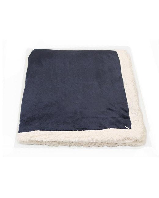 Kanata Blanket Original Lambswool Throw - Midnite Blue