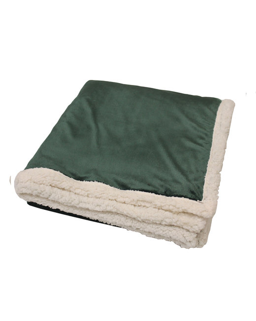 Kanata Blanket Original Lambswool Throw - Hunter Green
