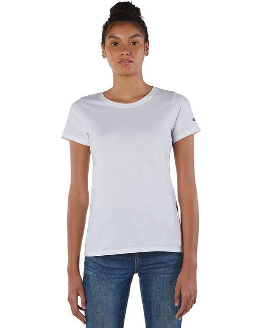 Champion Ladies' Ringspun Cotton T-Shirt - White