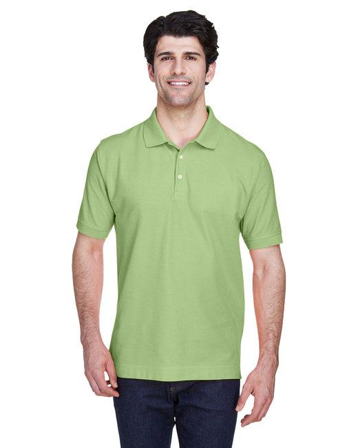Devon & Jones Men's Pima Piqué Short-Sleeve Polo - Lime
