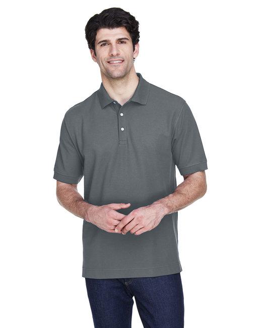 Devon & Jones Men's Pima Piqué Short-Sleeve Polo - Graphite