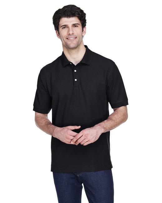 Devon & Jones Men's Pima Piqué Short-Sleeve Polo - Black