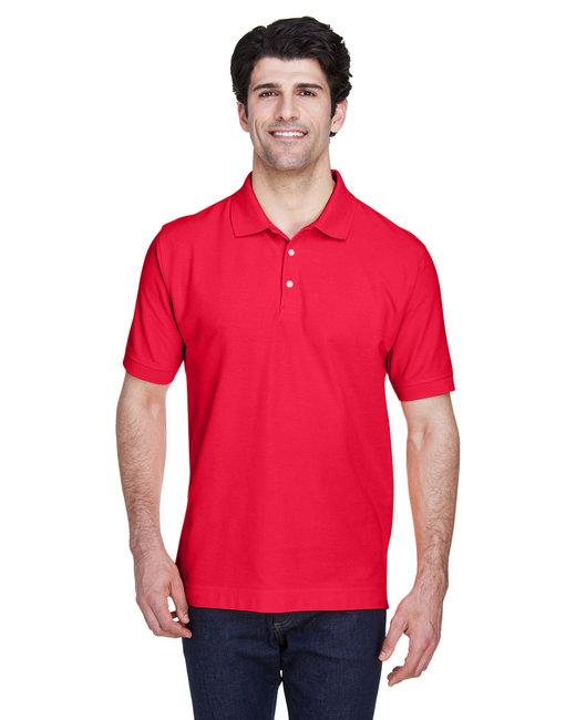 Devon & Jones Men's Pima Piqué Short-Sleeve Polo - Red
