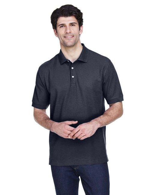 Devon & Jones Men's Pima Piqué Short-Sleeve Polo - Navy