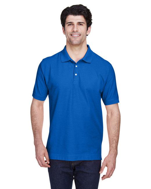 Devon & Jones Men's Pima Piqué Short-Sleeve Polo - French Blue