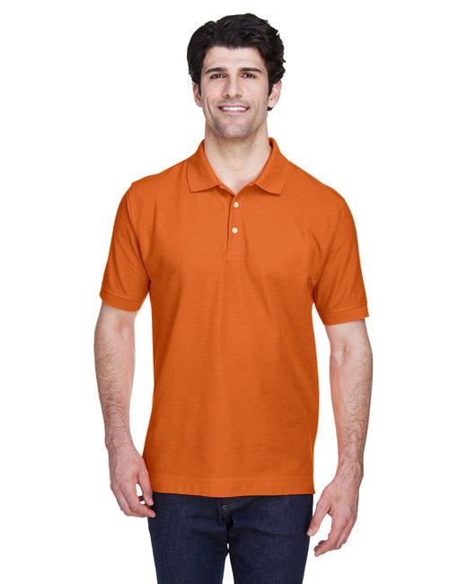 Devon & Jones Men's Pima Piqu� Short-Sleeve Polo - Deep Orange