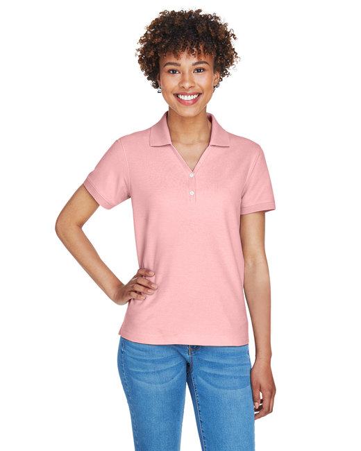 Devon & Jones Ladies' Pima Piqué Short-Sleeve Y-Collar Polo - Pink