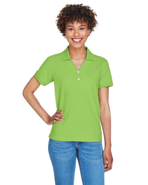 Devon & Jones Ladies' Pima Piqué Short-Sleeve Y-Collar Polo - Lime