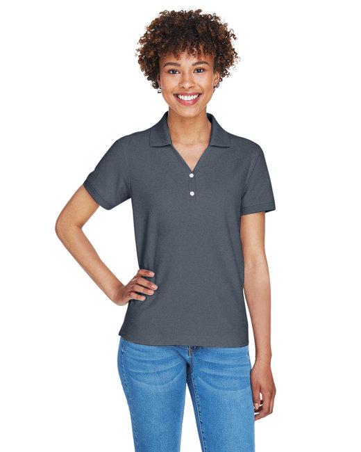 Devon & Jones Ladies' Pima Piqué Short-Sleeve Y-Collar Polo - Graphite
