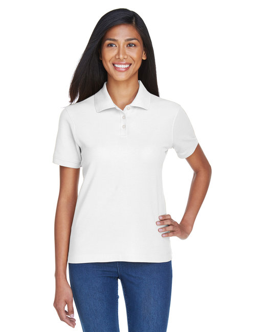 Devon & Jones Ladies' Pima Piqu� Short-Sleeve Polo - White