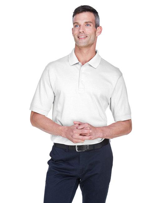 Devon & Jones Men's Solid Perfect Pima Interlock�Polo - White