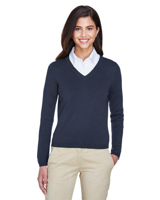 Devon & Jones Ladies' V-Neck Sweater - Navy