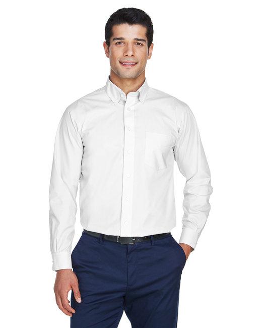 Devon & Jones Men's Crown Woven Collection� Solid Broadcloth - White