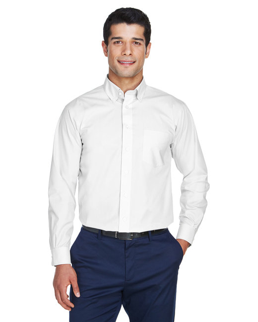 Devon & Jones Men's Crown Woven Collection� Solid Broadcloth - White