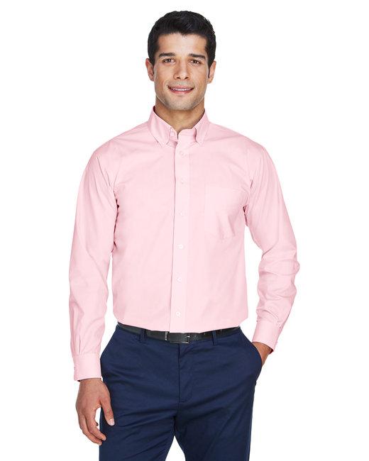 Devon & Jones Men's Crown Woven Collection� Solid Broadcloth - Pink