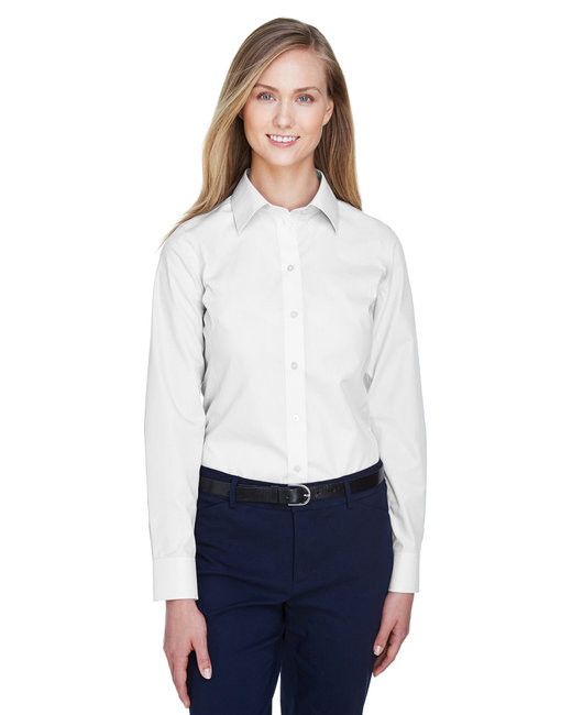 Devon & Jones Ladies' Crown Woven Collection� Solid Broadcloth - White