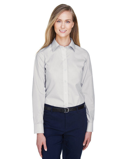 Devon & Jones Ladies' Crown Woven Collection� Solid Broadcloth - Silver