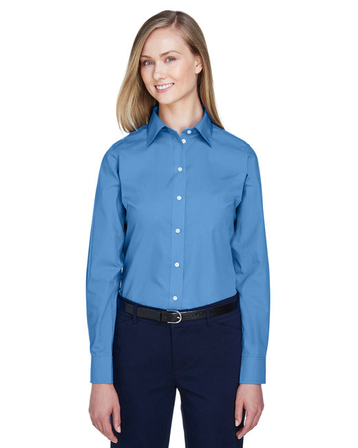 Devon & Jones Ladies' Crown Woven Collection� Solid Broadcloth - French Blue