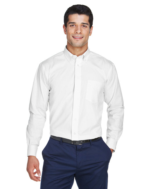 Devon & Jones Men's Crown Woven Collection™ Solid Oxford - White