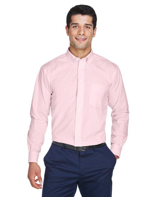 Devon & Jones Men's Crown Woven Collection� Solid Oxford - Pink