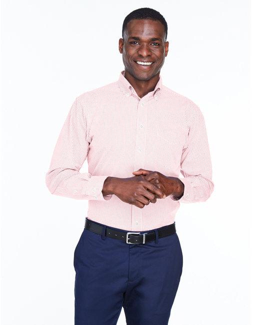 Devon & Jones Men's Crown Woven Collection� Gingham Check - Pink