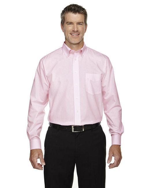 Devon & Jones Men's Crown Woven Collection™ Banker Stripe - Pink
