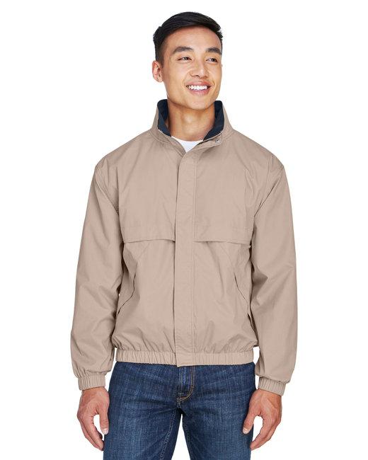 Devon & Jones Men's Clubhouse Jacket - Khaki/ Navy