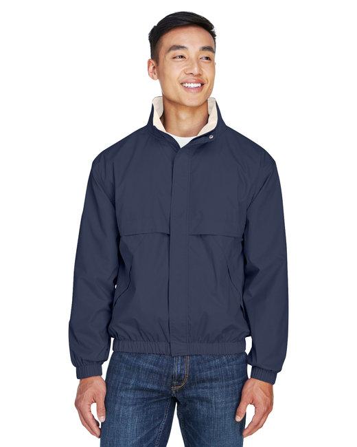 Devon & Jones Men's Clubhouse Jacket - Navy/ Khaki