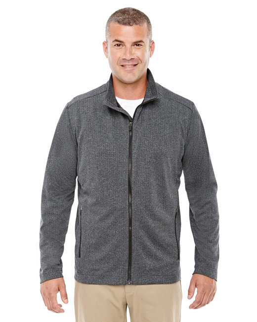 Devon & Jones Men's Fairfield Herringbone Full-Zip Jacket - Dk Grey Heather