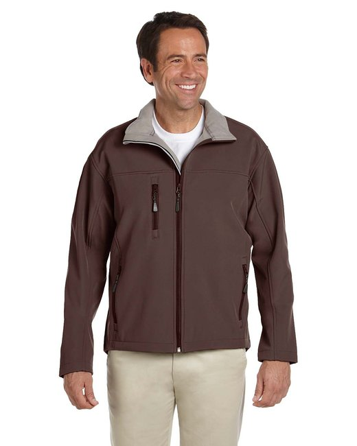 Devon & Jones Men's Soft Shell Jacket - Brown