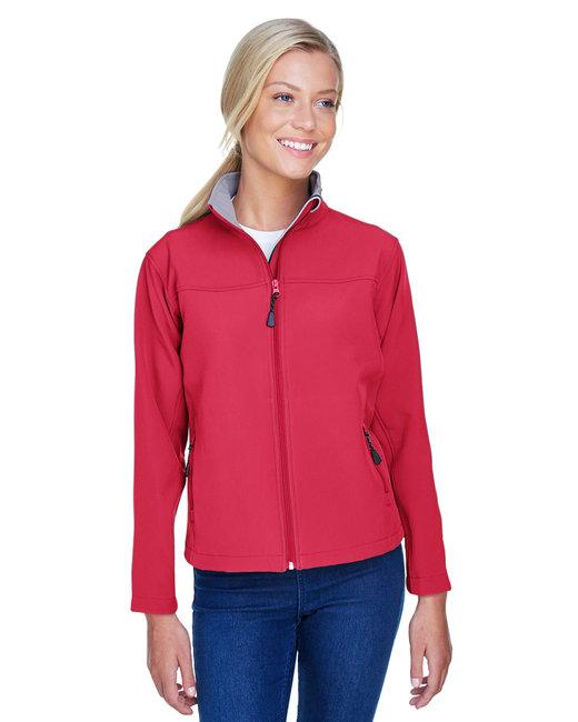 Devon & Jones Ladies' SoftShell Jacket - Red