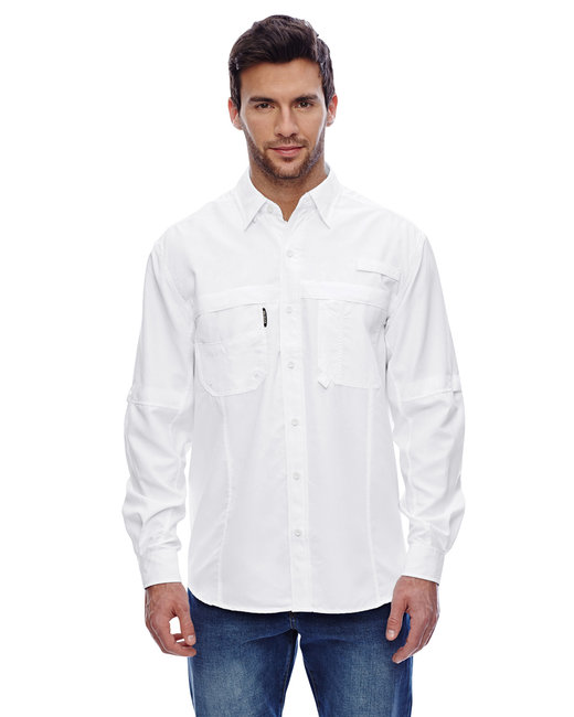 Dri Duck Men's Long-Sleeve Catch�Fishing Shirt - White