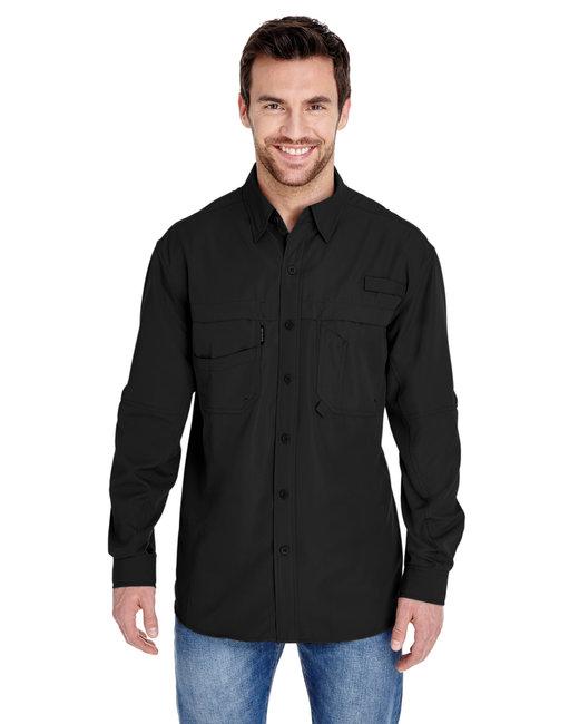 Dri Duck Men's 100% polyester Long-Sleeve Fishing Shirt - Black