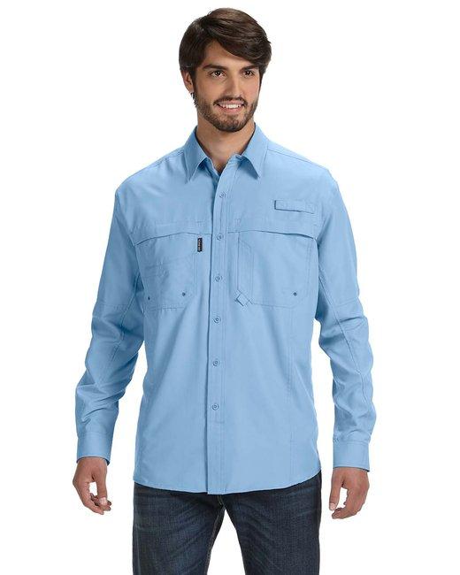 Dri Duck Men's 100% polyester Long-Sleeve Fishing Shirt - Sky