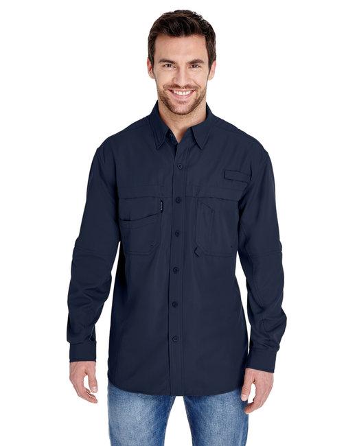 Dri Duck Men's 100% polyester Long-Sleeve Fishing Shirt - Deep Blue