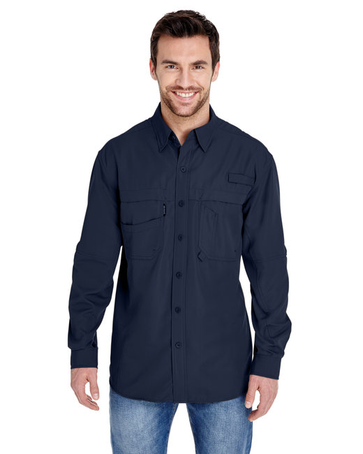 Dri Duck Men's Long-Sleeve Catch�Fishing Shirt - Deep Blue