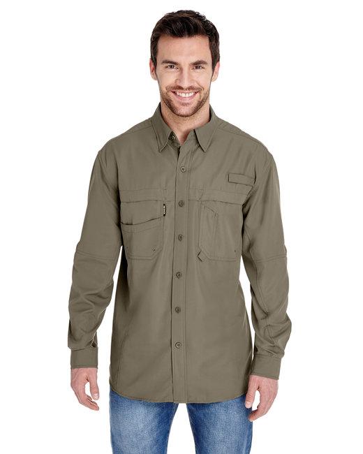 Dri Duck Men's 100% polyester Long-Sleeve Fishing Shirt - Mushroom