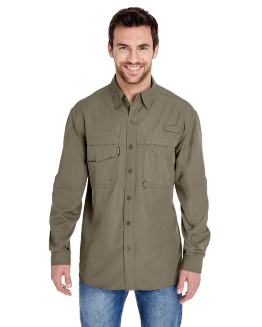 Dri Duck Men's Long-Sleeve Catch�Fishing Shirt - Mushroom
