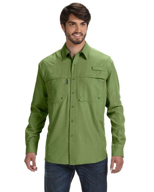 Dri Duck Men's 100% polyester Long-Sleeve Fishing Shirt - Grass