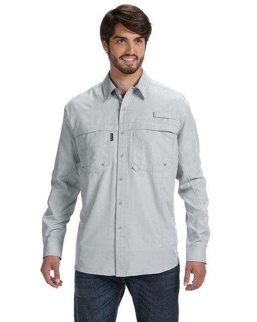 Dri Duck Men's 100% polyester Long-Sleeve Fishing Shirt - Fog