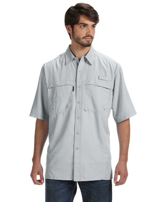 Dri Duck Men's 100% Polyester Short-Sleeve Fishing Shirt - Fog