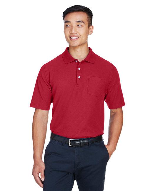 Devon & Jones Men's DRYTEC20� Performance Pocket Polo - Red