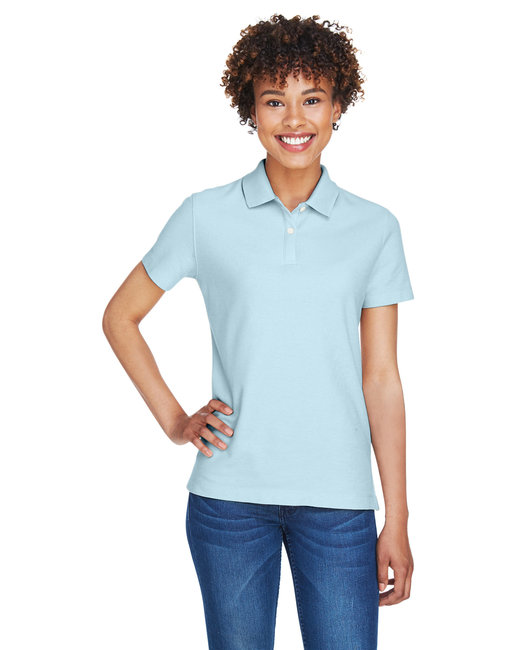 Devon & Jones Ladies' DRYTEC20� Performance Polo - Crystal Blue
