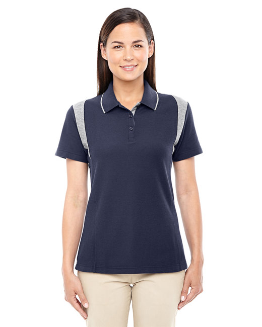 Devon & Jones Ladies' DRYTEC20� Performance Colorblock Polo - Navy/ Grey Hthr