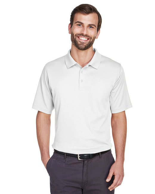 Devon & Jones Men's Pima-Tech� Jet Piqu� Polo - White