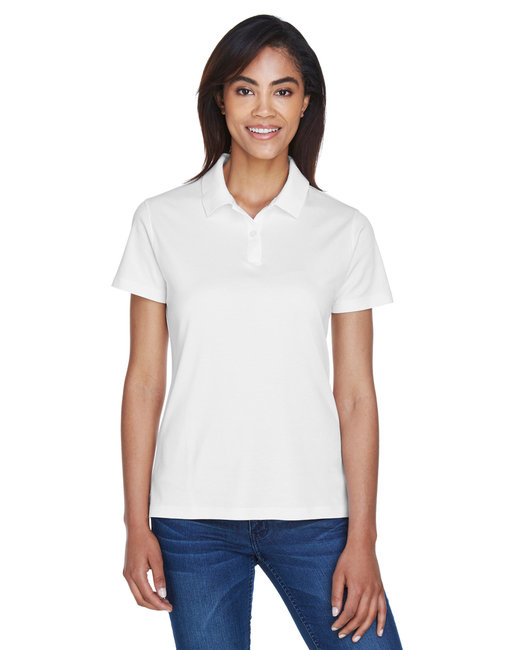 Devon & Jones Ladies' Pima-Tech� Jet Piqu� Polo - White
