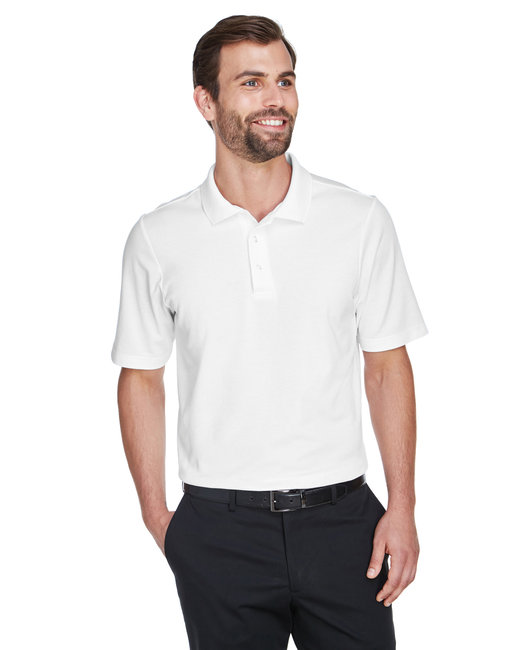 Devon & Jones Men's CrownLux Performance� Plaited Polo - White