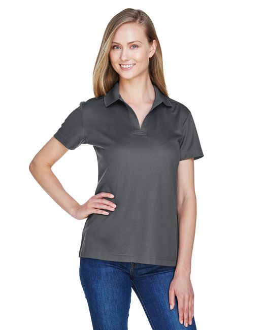 Devon & Jones Ladies' CrownLux Performance� Plaited Polo - Graphite